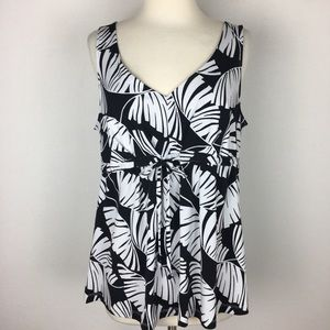 Tommy Bahama Leaf Print Tank Top size Large